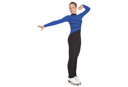 All In One Ice Skating Catsuit Royal Blue