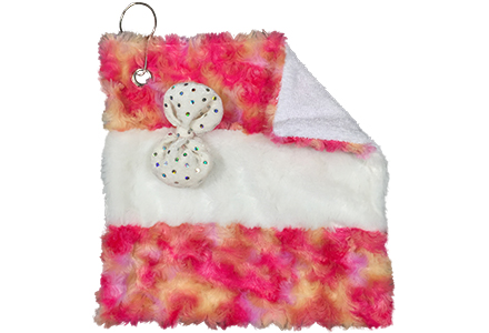 Ribbon Ice Skate Blade Wiper Towel Pink