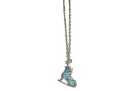 Ice Skate Necklace Turquoise