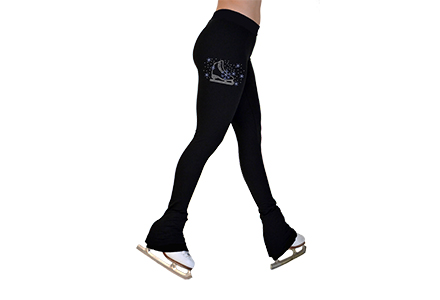 P22 Mini Crystal Ice Skating Leggings Blue Skate