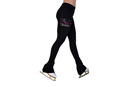P22 Mini Crystal Ice Skating Leggings Fuchsia Skate