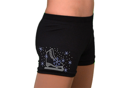 Rhinestone Ice Skating Shorts Skate Blue Crystal
