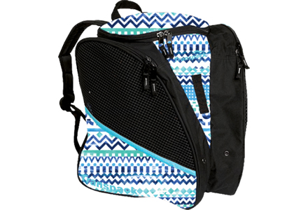 Aztec Transpack Ice Skate Bag Blue/Green