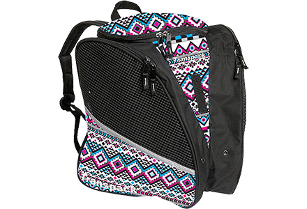 Aztec Transpack Ice Skate Bag White/Pink/Aqua