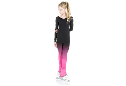 Xpression Ombre Faded Leggings For Figure Skating Pink
