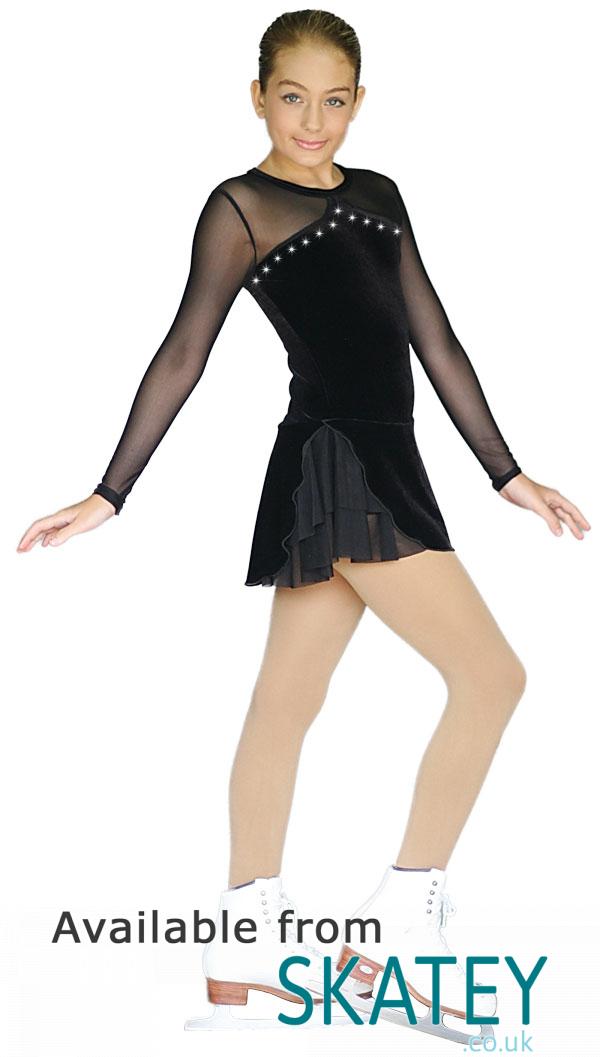 Chloe Noel Dlv33 Long Sleeve Figure Skating Dress From