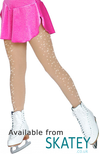 2709cce171604 Chloe Noel Footed Skating Tights With Crystal Spray On Both Legs ...