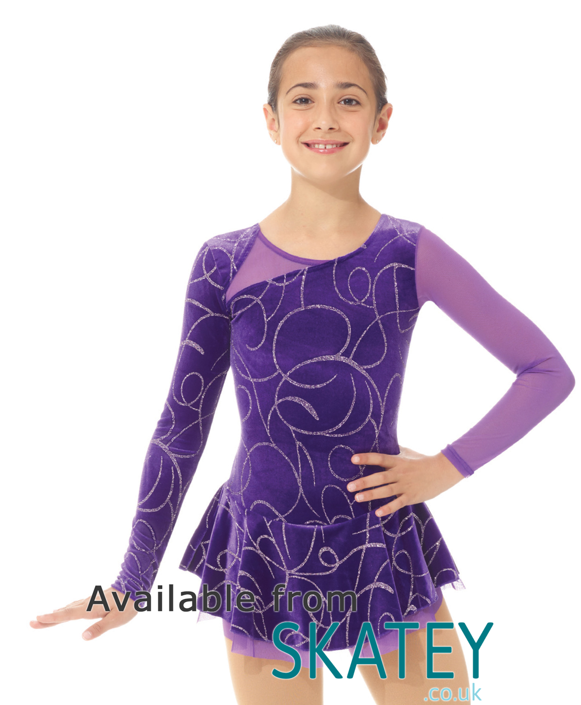 Sporting Goods Mondor Girl Ice Skating Dress Size 8-10 Worn Once Matching Hair Band