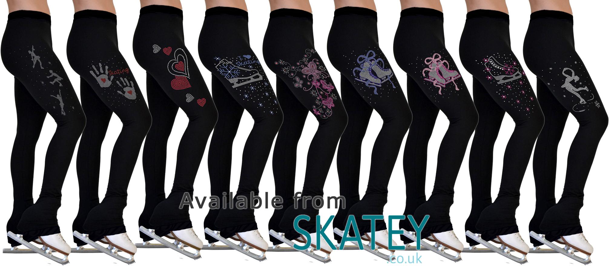 b06a83d3d75fa Chloe Noel Rhinestone Ice Skating Trousers / Leggings From Skatey.co.uk